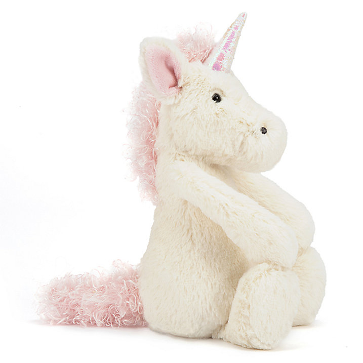 Jellycat, Bashful Unicorn, Small, White