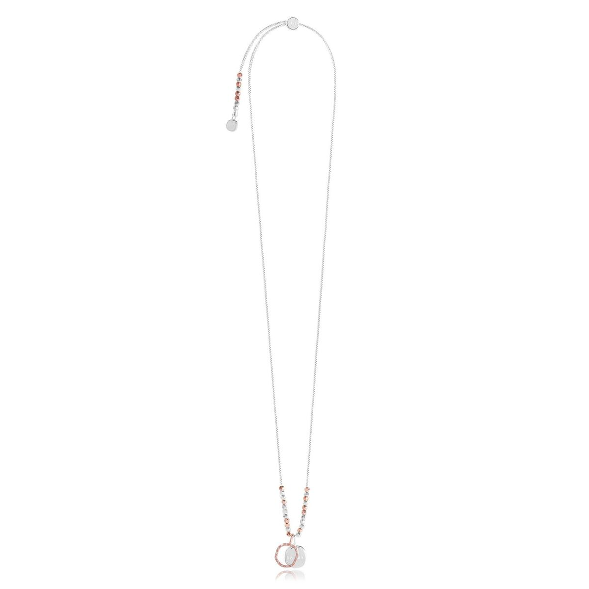 Caci Karma Necklace - Rose Gold & Silver