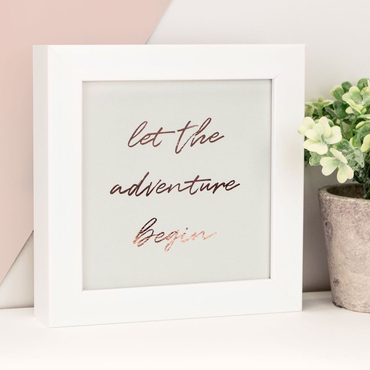 'Let the Adventure Begin' Framed Petite Foil Print
