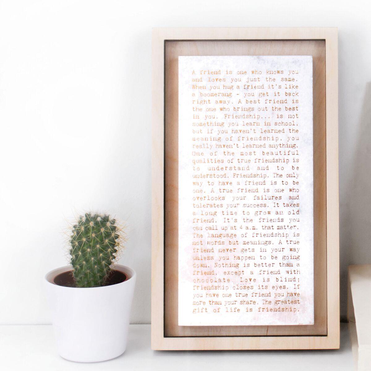 "'Friendship"" Marble Print"