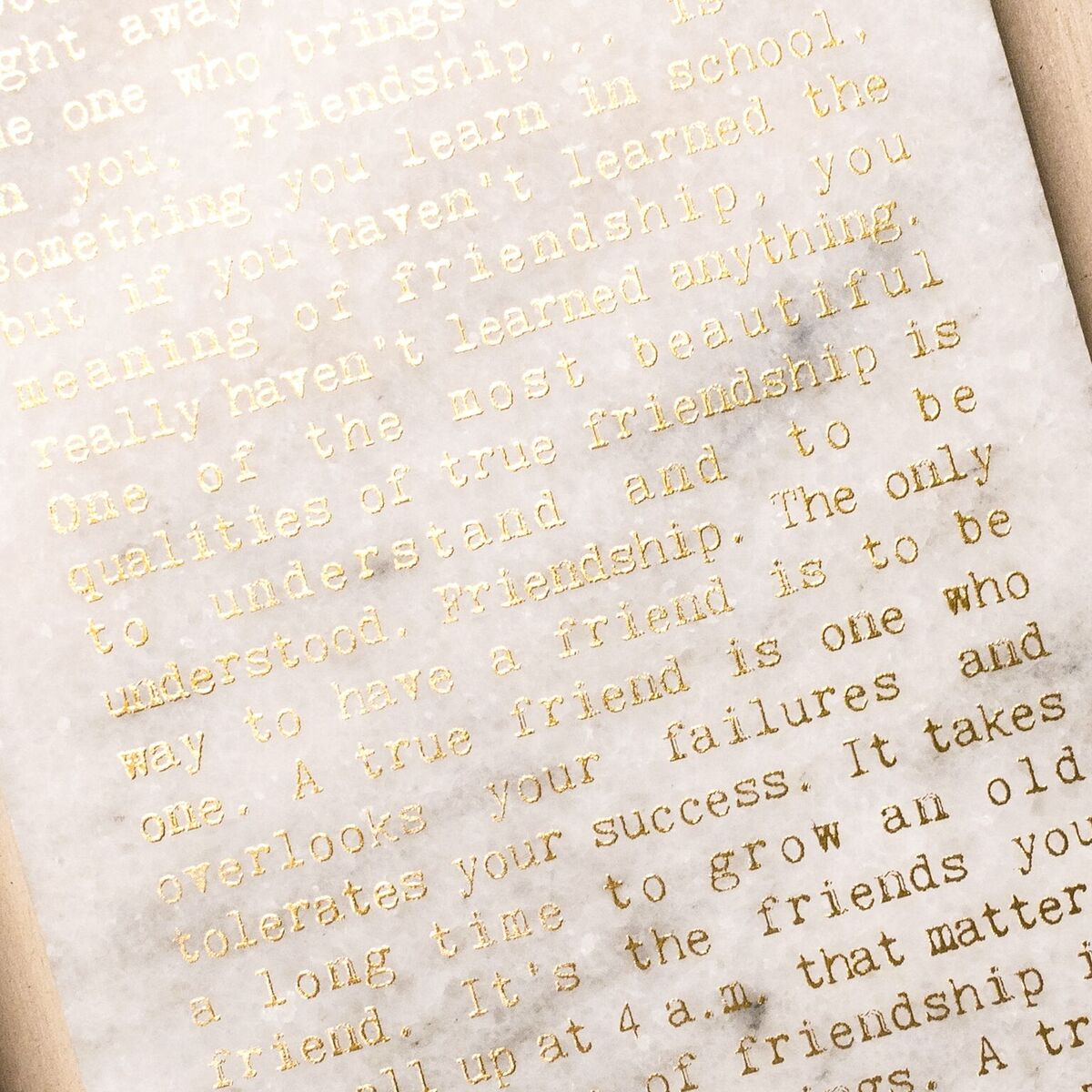 """'Life List"""" Marble Print"""
