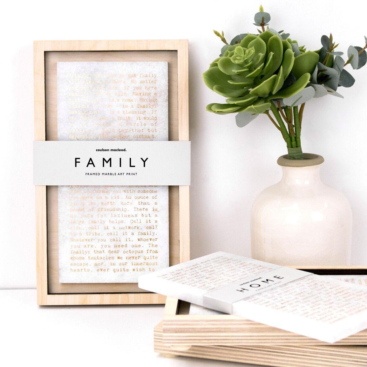 'Home' Marble Print