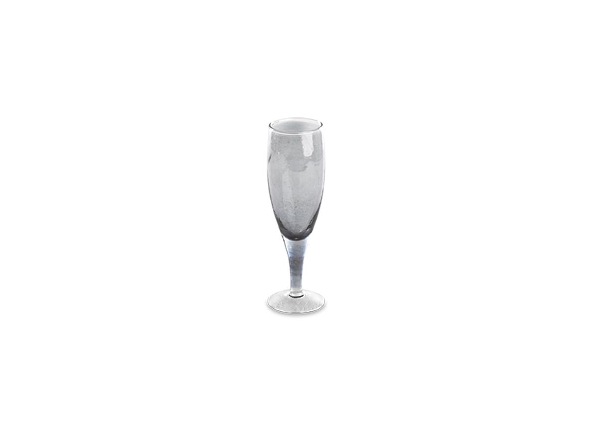Ozari Champagne Glass - Aged Silver