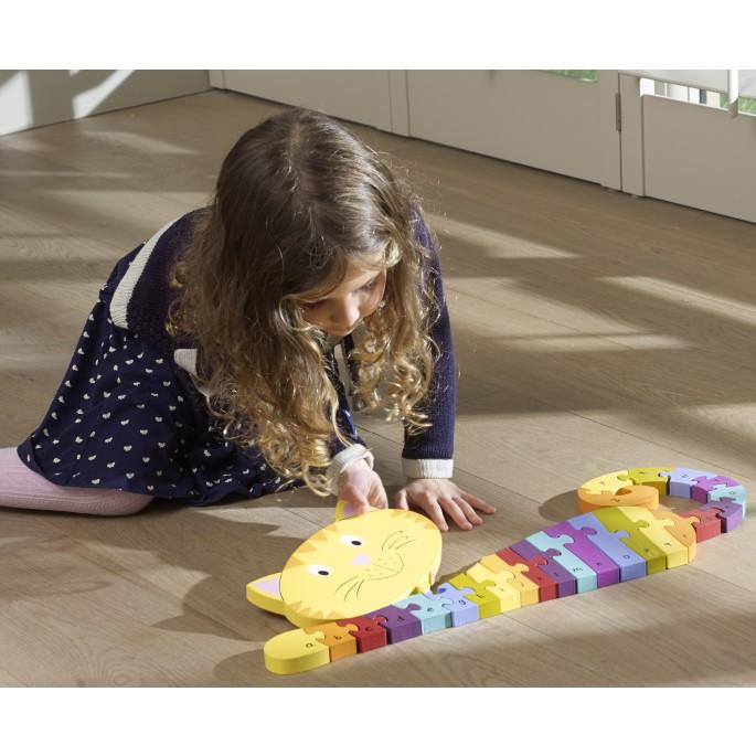 Wooden Alphabet Cat Puzzle