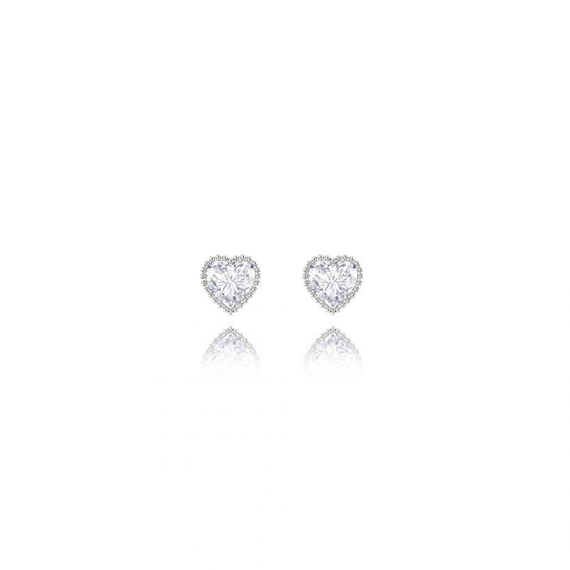 Odessa Crystal Heart Stud Earrings