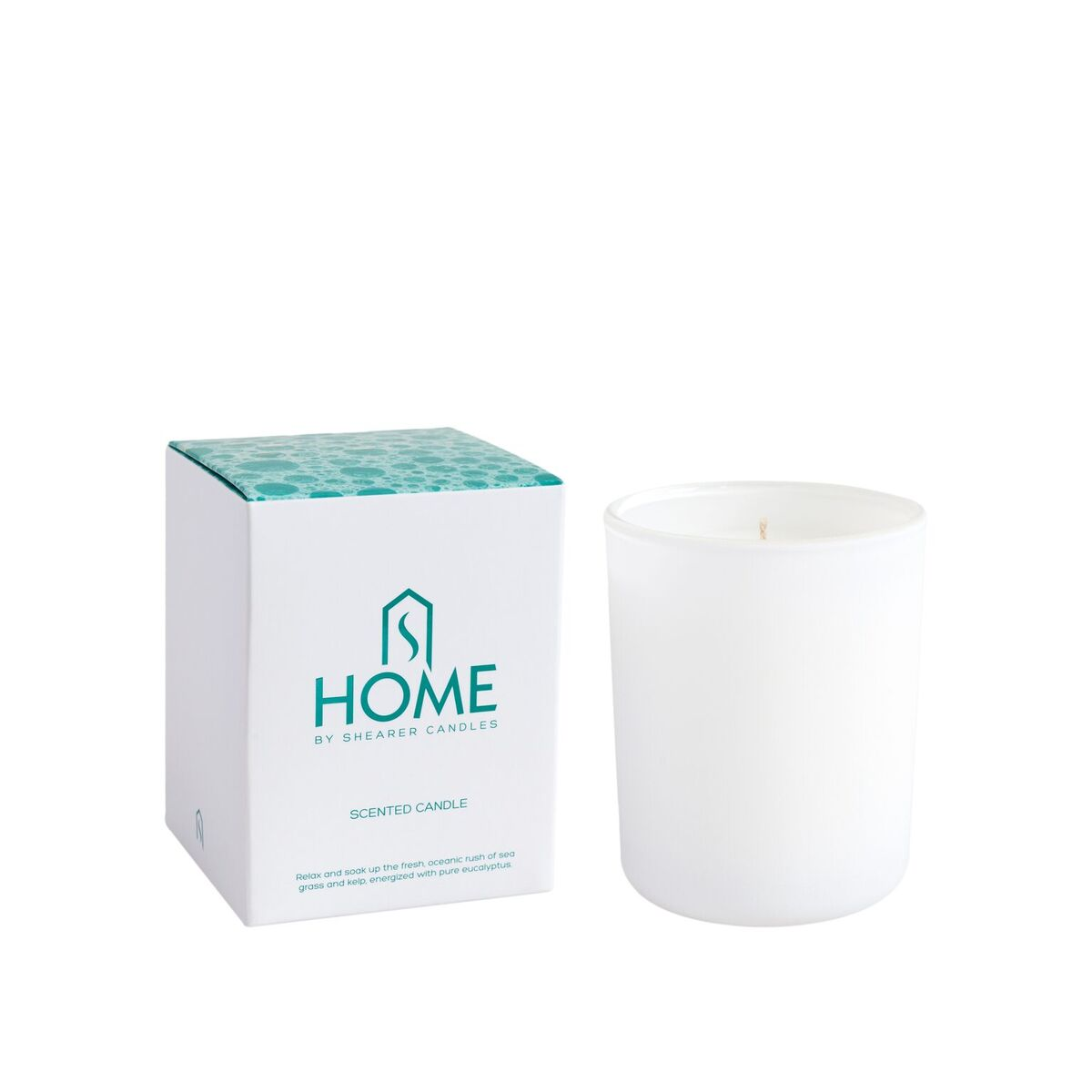 Home Glass Candle 30cl Gift Box Bathroom