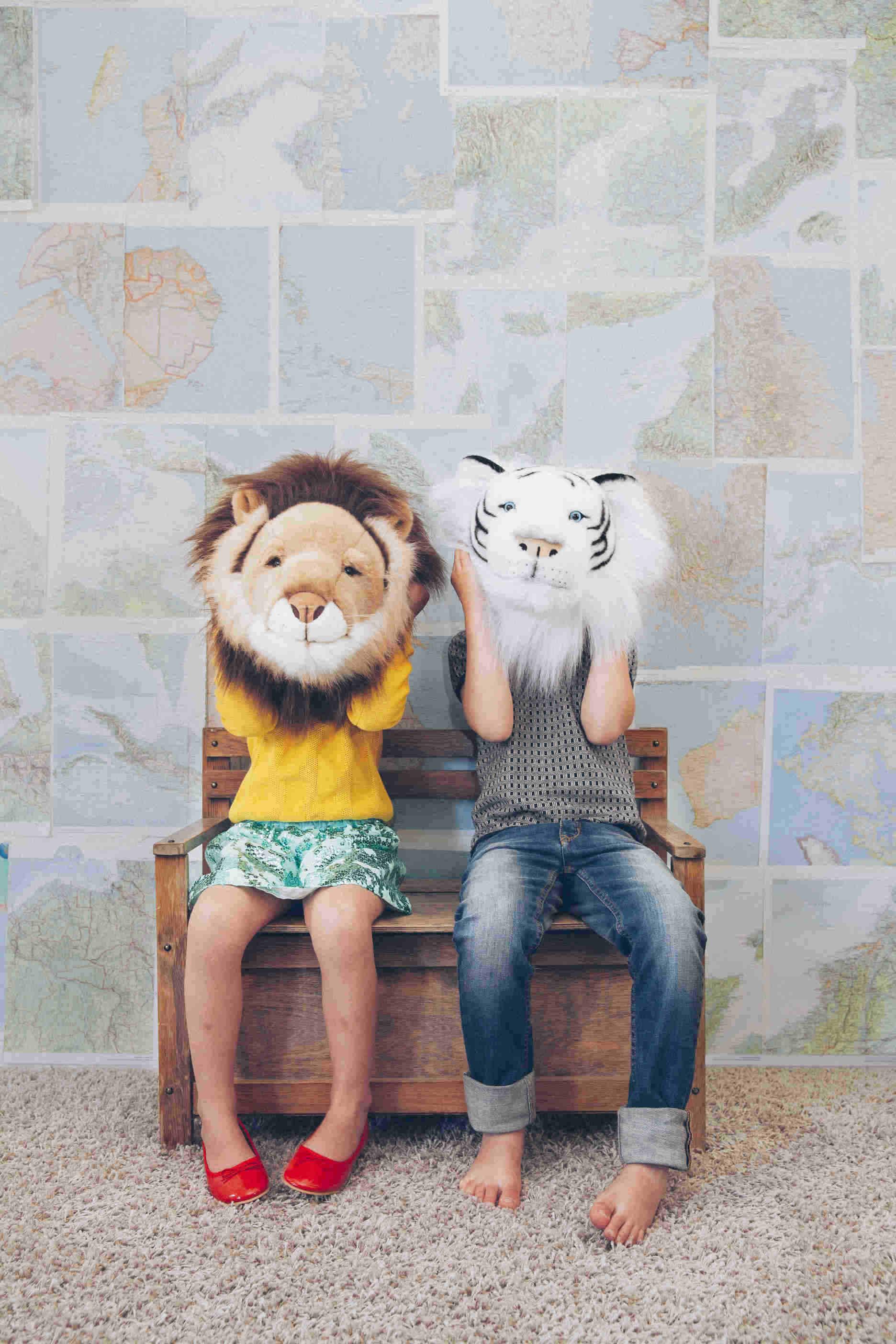 "Wild & Soft, Plush ""Cesar"" The Lion, Animal Head"