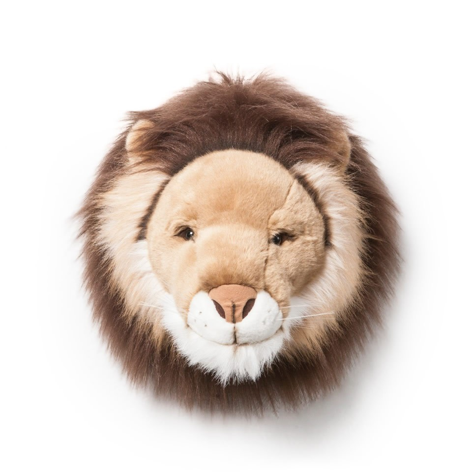 "Wild & Soft, Plush ""Cesar"" The Lion, Animal Head"
