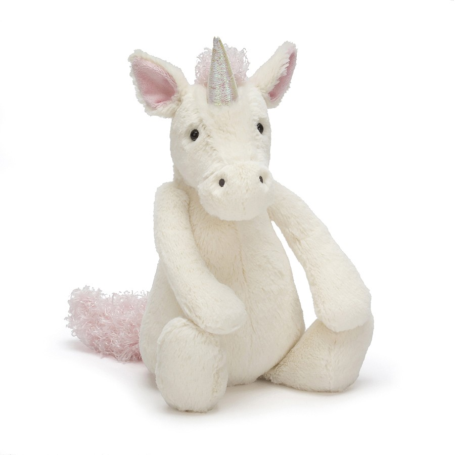 Jellycat, Bashful Unicorn, Medium, White