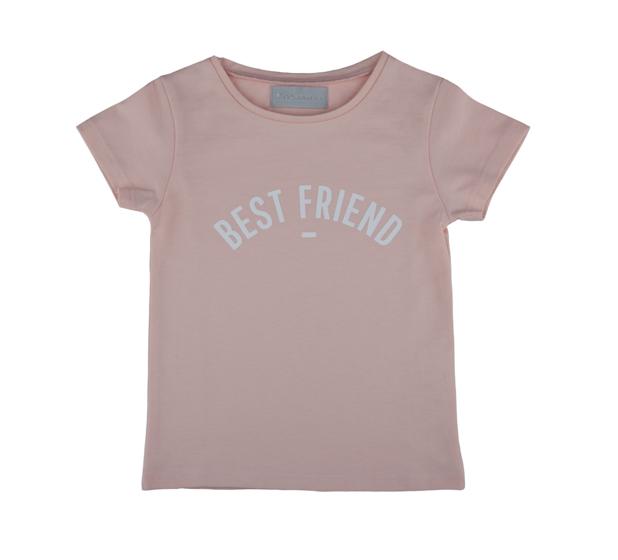 Bob & Blossom, Cap-Sleeved 'Best Friend' T-Shirt, Blush Pink