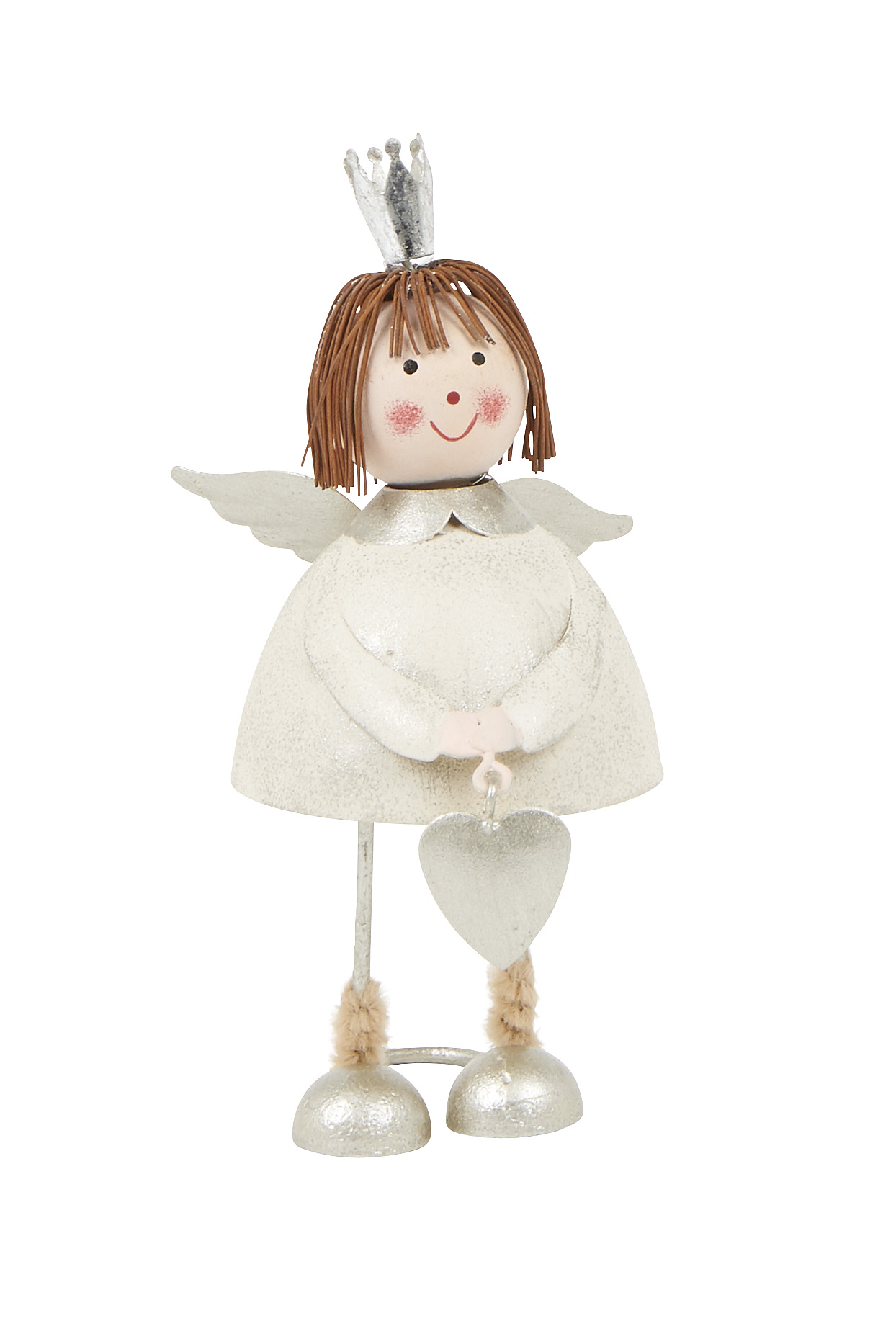 White Nordic Small Angel with Heart