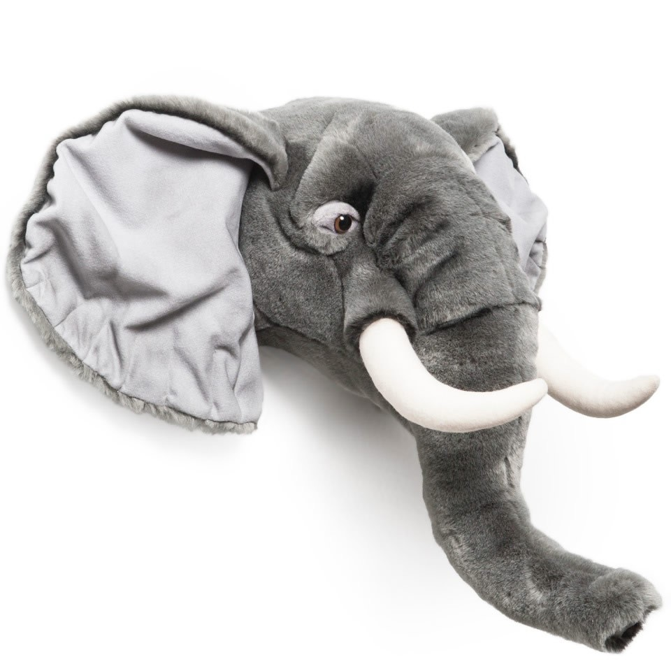 "Wild & Soft, Plush ""George"" The Elephant Animal Head"