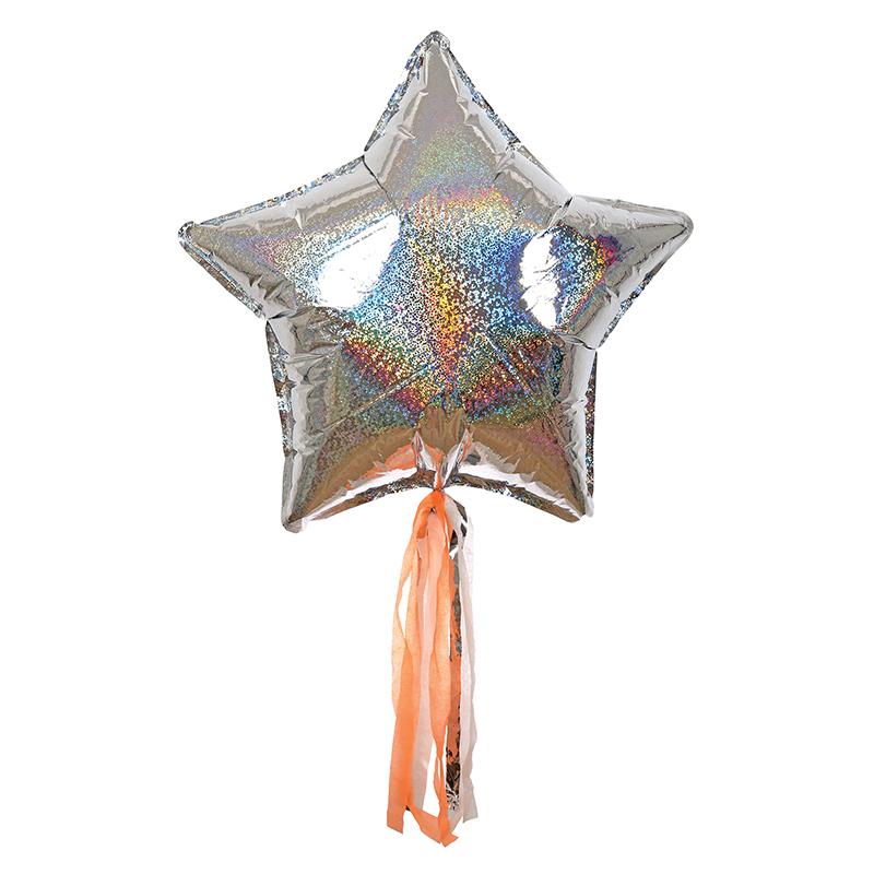 Meri Meri, Silver Sparkly Star Balloon Kit