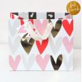 Caroline Gardner Metallic Hearts Gift Bag - Medium