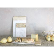 Nkuku - Bwari Small Marble Board - White