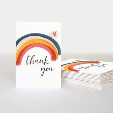 "Caroline Gardner ""Thank You"" Rainbow Card (Pack of 10)"