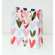 Caroline Gardner Metallic Hearts Gift Bag - Large
