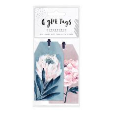 Hotchpotch Swan Lake Pink And Blue Floral Gift Tags (6)