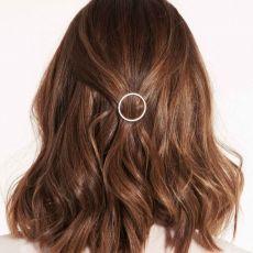 Joma Hair Accessory Silver Pave Circle Clip