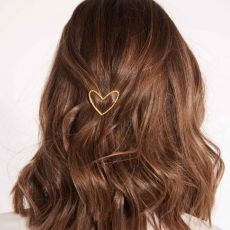 Joma Hair Accessory Gold Pave Heart Clip