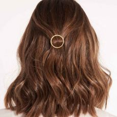 Joma Hair Accessory Gold Pave Circle Clip
