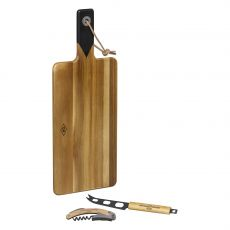 Gentleman's Hardware Cheese Board, Knife and Wine Opener Set
