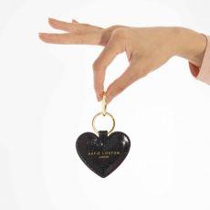Katie Loxton Celine Croc Heart Keyring - Black