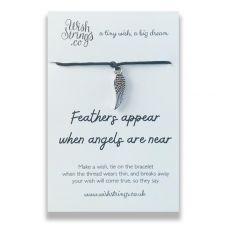 """Wishstrings """"Feathers Appear"""" Wish Bracelet"""