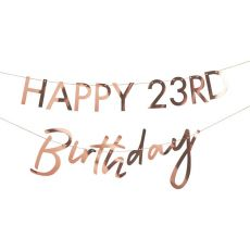 Ginger Ray Personalised Rose Gold Birthday Banner