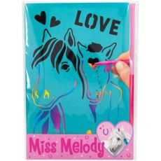 "Top Model ""Miss Melody"" Horse Stencil Scratch Books"
