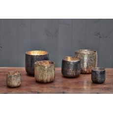 Nkuku Aban Rustic Gold T-Light Holder
