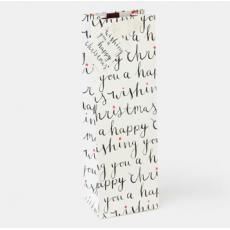"""Caroline Gardner """"Happy Christmas"""" Bottle Gift Bag"""