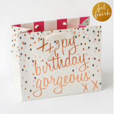 "Caroline Gardner ""Happy Birthday Gorgeous"" Gift Bag - Medium"