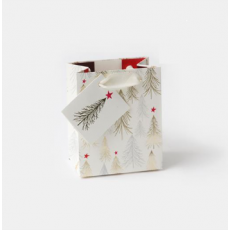 Caroline Gardner Christmas Trees Gift Bag - Small