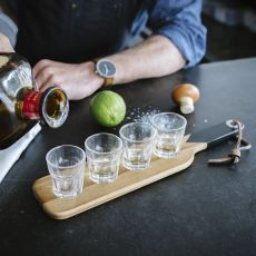 Gentleman's Hardware Shot Glasses With Serving Paddle