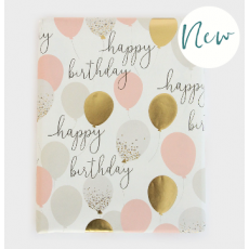 "Caroline Gardner Balloons ""Happy Birthday"" Gift Wrap Sheet"