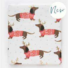 Caroline Gardner Sausage Dog Christmas Gift Wrap Sheet