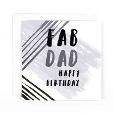 "Hotchpotch Luxe ""Fab Dad"" Birthday Card"