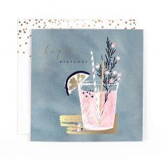 "Hotchpotch Swan Lake ""Happy Birthday"" Cocktail Birthday Card"