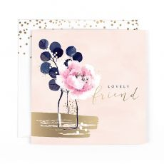 "Hotchpotch Swan Lake ""Lovely Friend"" Flower Birthday Card"