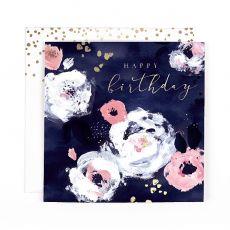 "Hotchpotch Swan Lake ""Happy Birthday"" Flowers Birthday Card"