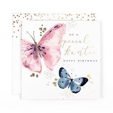 "Hotchpotch Swan Lake ""Special Auntie"" Butterfly Birthday Card"