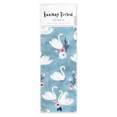 Hotchpotch Swan Lake Blue Flamingos Tissue