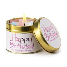 "Lily Flame ""Happy Birthday"" Scented Tinned Candle"