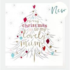 Caroline Gardner Lovely Mum Christmas Card