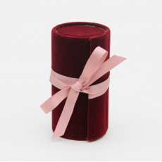 Caroline Gardner Burgundy Mini Jewellery Box Roll