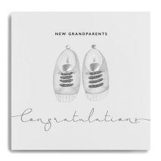 "Janie Wilson ""New Grandparents"" Congratulations Card"