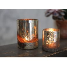 Nkuku Tabia Rustic Silver T-Light Holder