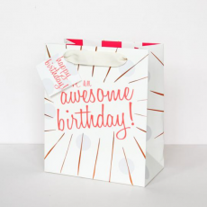 "Caroline Gardner ""Awesome Birthday"" Gift Bag - Medium"