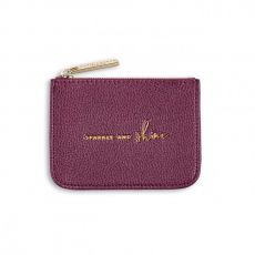 Katie Loxton 'Sparkle and Shine' Structured Coin Purse - Metallic Berry